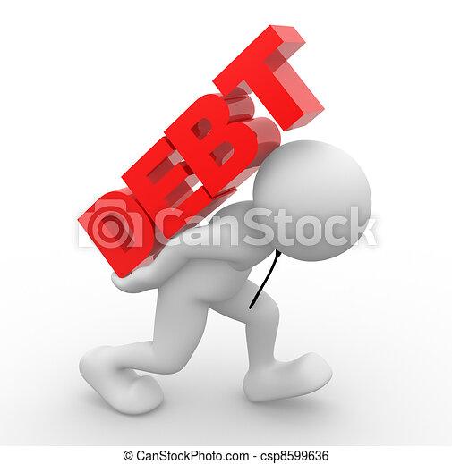 Debt concept - csp8599636