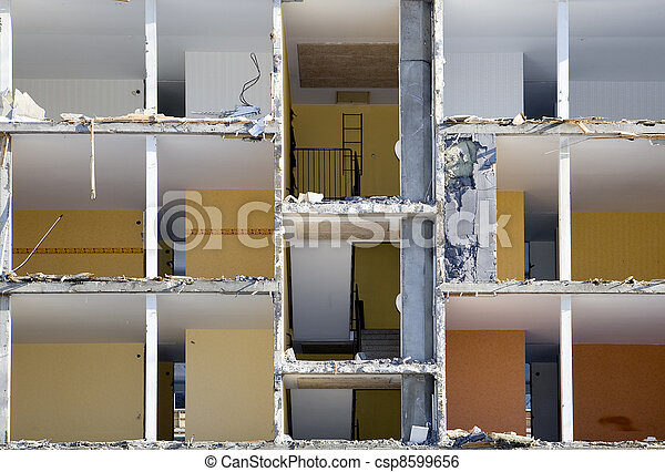 Damaged apartment - csp8599656