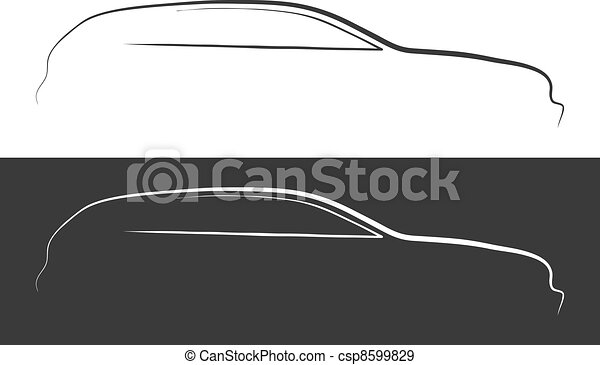 Vector illustration of car silhouette - csp8599829
