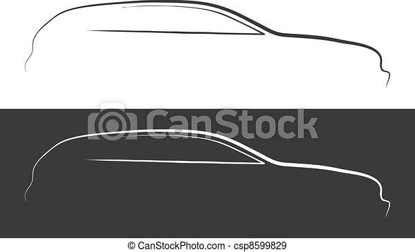 Vector illustration of car silhouette - csp8599829