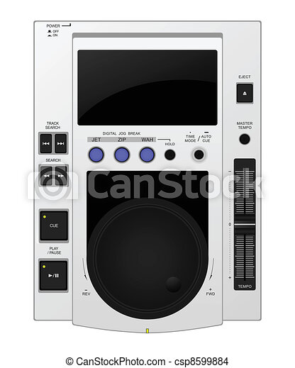 Vector illustration of modern professional cd player - csp8599884