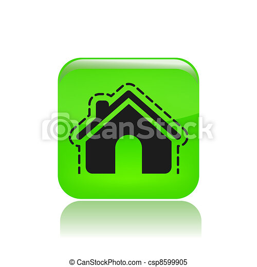 Vector illustration of modern icon depicting a house protection - csp8599905