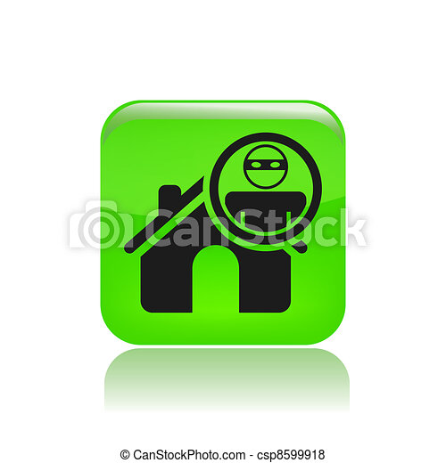 Vector illustration of thief apartments icon - csp8599918