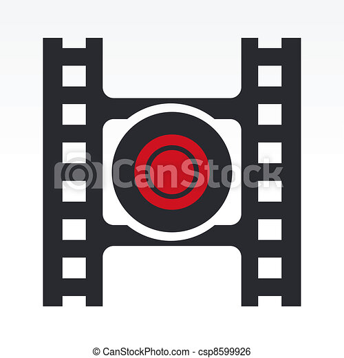 Vector illustration of record video button - csp8599926