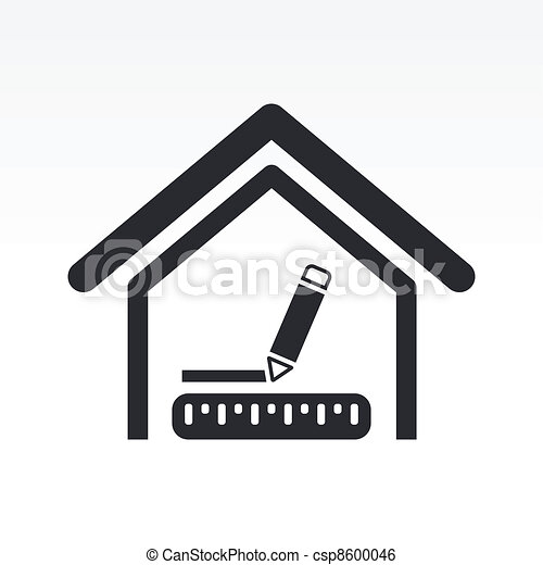Vector illustration of house measures - csp8600046