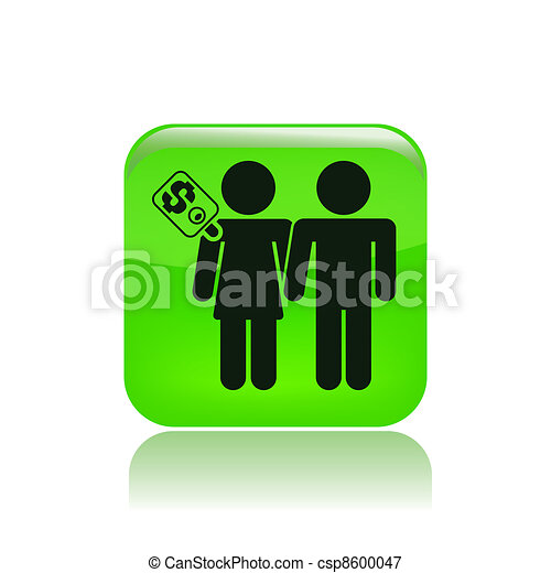 Vector illustration of couple for cash - csp8600047