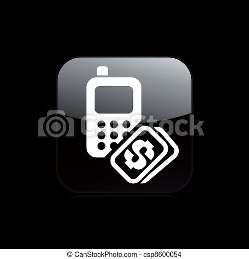 Vector illustration of phone cost - csp8600054