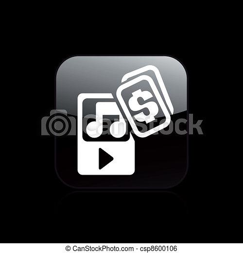 Vector illustration of music buy - csp8600106