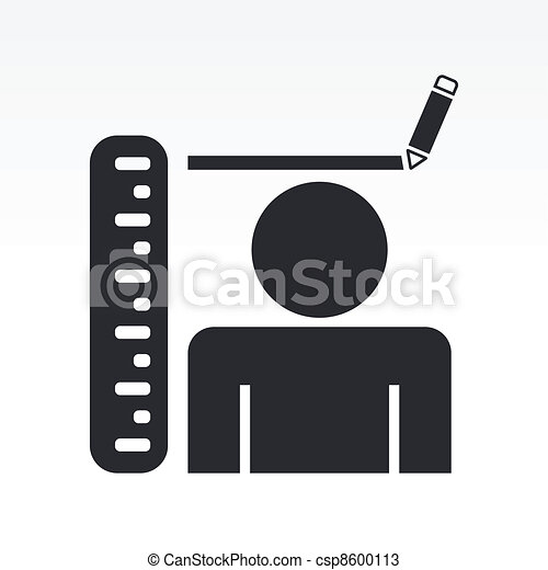 Vector illustration of stature measure concept - csp8600113