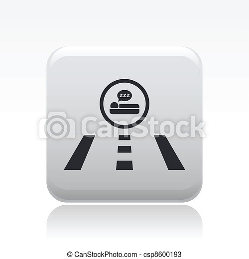 Vector illustration of hotel direction road - csp8600193