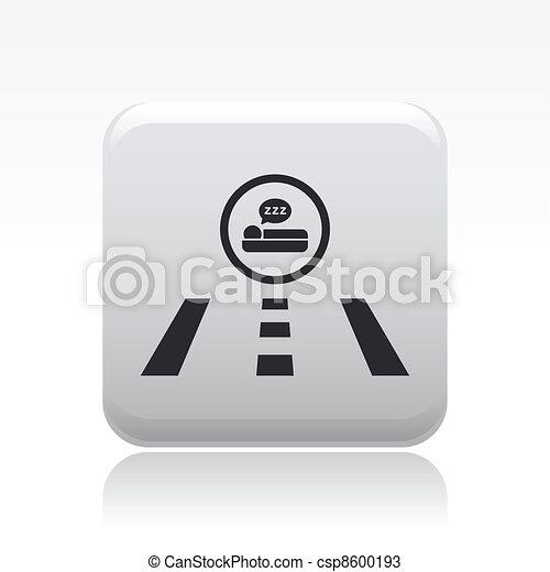 Vector illustration of hotel direction road - csp8600193