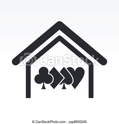 Vector illustration of poker house concept icon - csp8600240