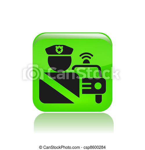 Vector illustration of roadblock single icon isolated - csp8600284