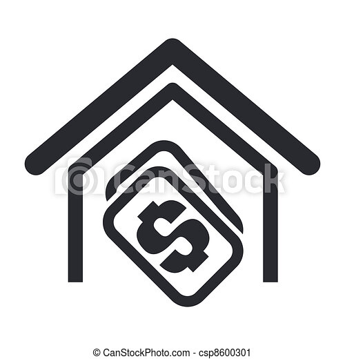 Vector illustration of house buy single isolated icon - csp8600301