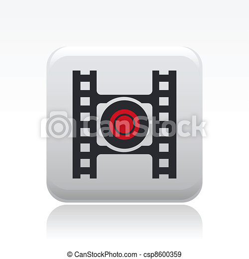 Vector illustration of single isolated video recording icon - csp8600359