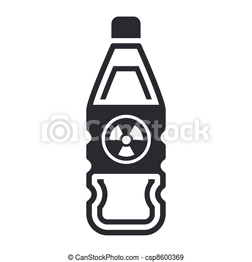 Single isolated vector illustration of nuclear waste in bottle  - csp8600369