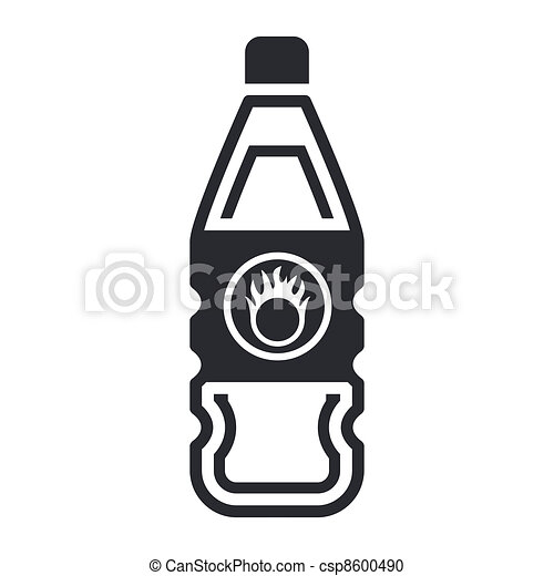 Vector illustration of single isolated dangerous bottle icon - csp8600490