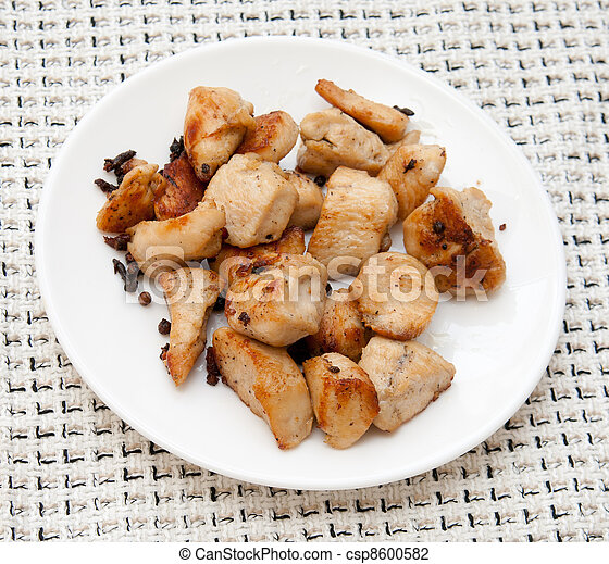 pieces of delicious fried chicken  - csp8600582