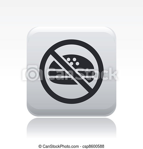 Vector illustration of single isolated forbidden food icon - csp8600588
