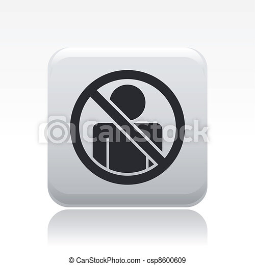 Vector illustration of single isolated access forbidden icon - csp8600609