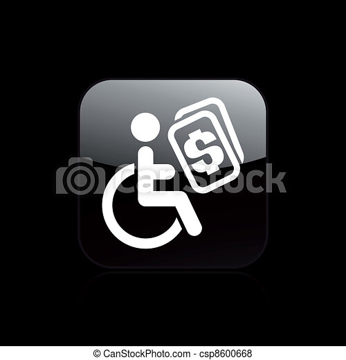 Vector illustration of single isolated handicap icon - csp8600668