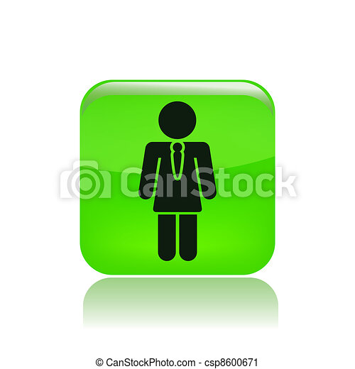 Vector illustration of single isolated girl in uniform icon - csp8600671