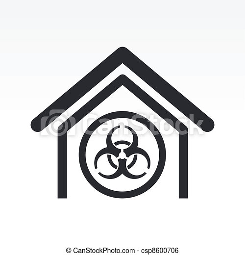 Vector illustration of single isolated biological danger icon - csp8600706