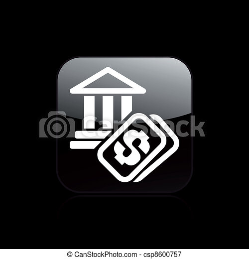 Vector illustration of single isolated historical site cost icon - csp8600757
