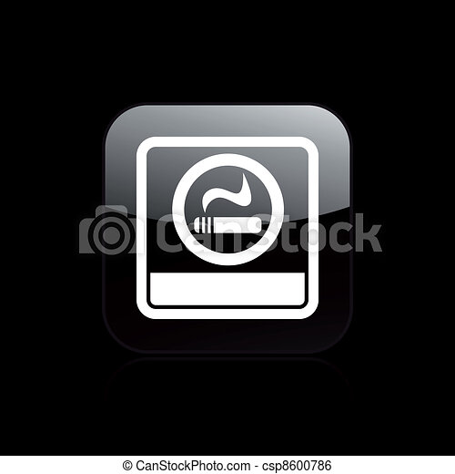 Vector illustration of single isolated smoke area icon - csp8600786