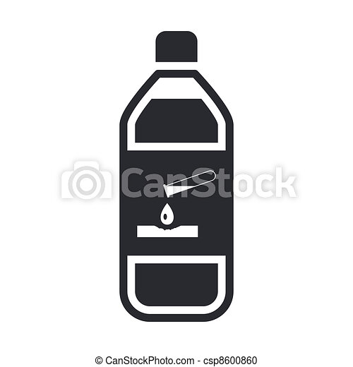 Vector illustration of single isolated dangerous bottle icon - csp8600860