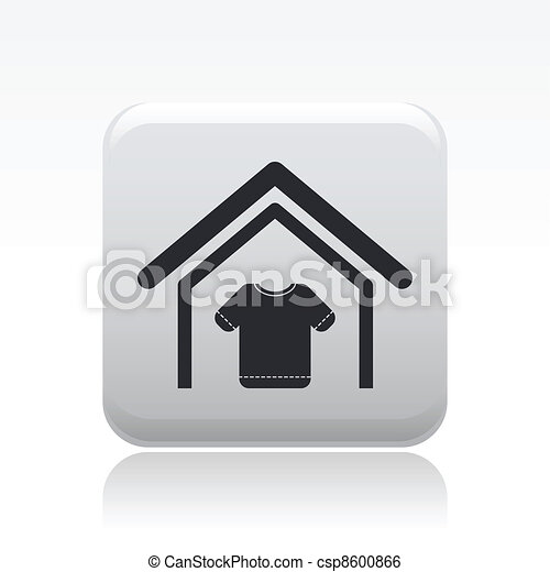 Vector illustration of single isolated clothing store icon - csp8600866