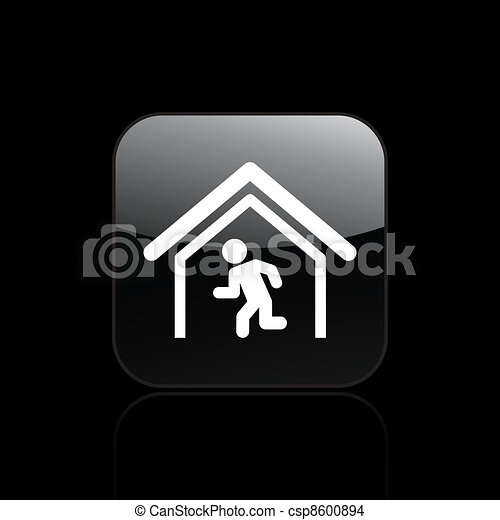 Vector illustration of single isolated escape icon - csp8600894