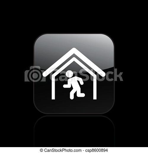 Vector illustration of single isolated escape icon - csp8600894