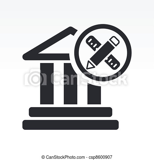 Vector illustration of single isolated historical design icon - csp8600907