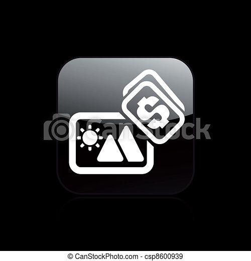 Vector illustration of single isolated photo sell icon - csp8600939