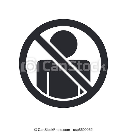 Vector illustration of single isolated access forbidden icon - csp8600952