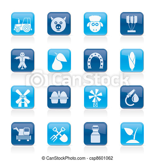 Agriculture and farming icons - csp8601062