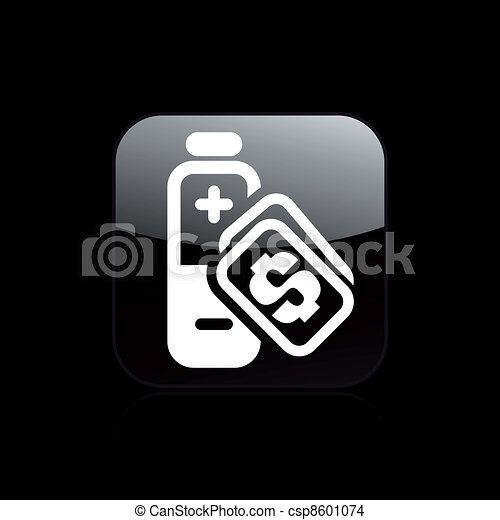 Vector illustration of single isolated charge cost icon - csp8601074
