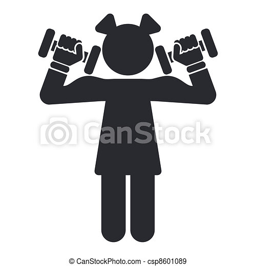 Vector illustration of single isolated gym icon - csp8601089