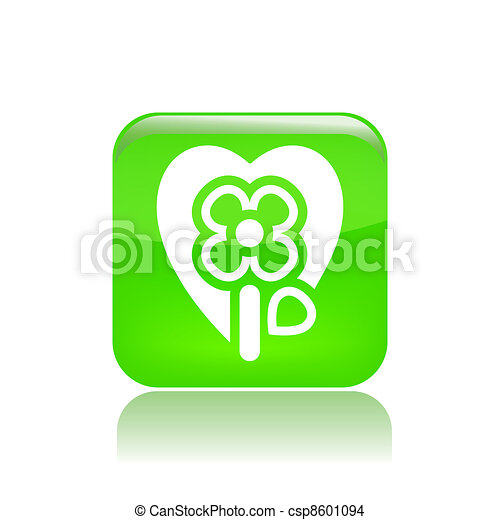 Vector illustration of single isolated flower passion icon - csp8601094