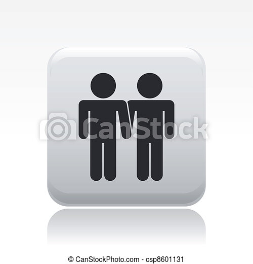 Vector illustration of single isolated gay icon - csp8601131