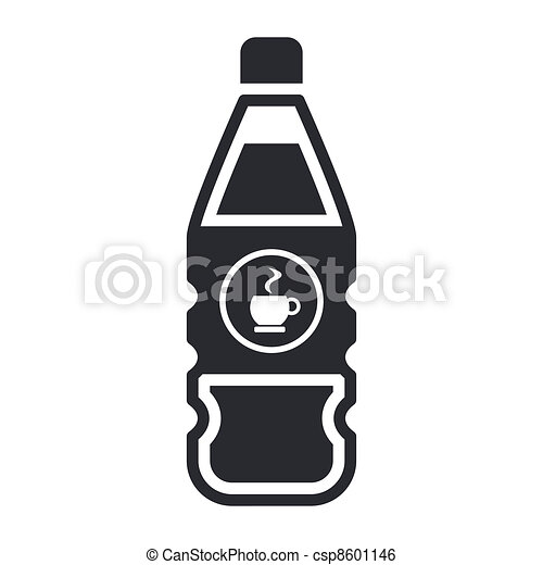 Vector illustration of single isolated coffee bottle icon - csp8601146