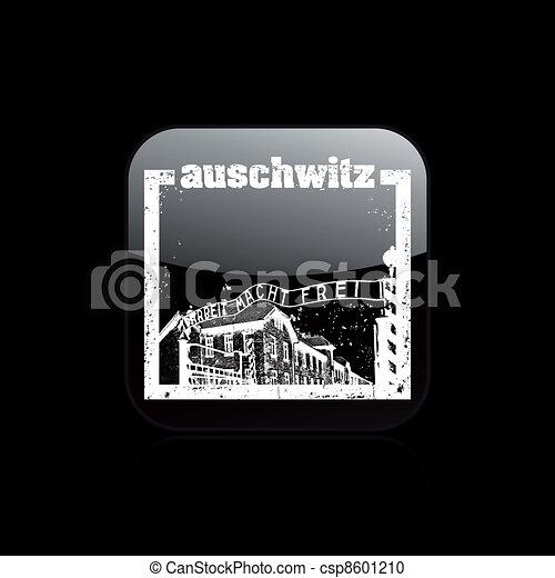 Vector illustration of single isolated auschwitz icon - csp8601210