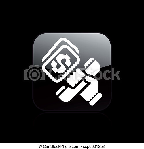 Vector illustration of single isolated phone cost icon - csp8601252