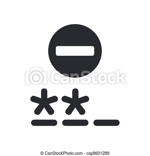 Vector illustration of single isolated password icon - csp8601289