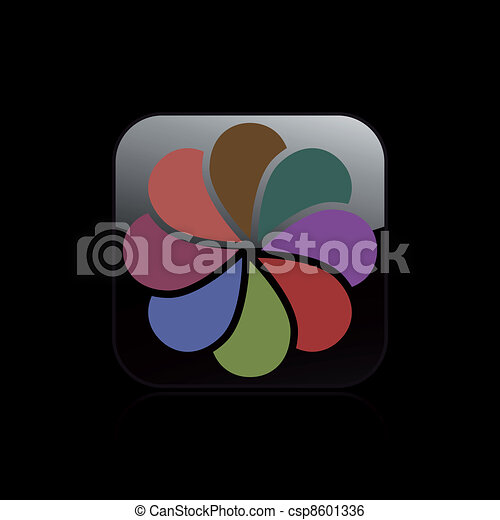 Vector illustration of single isolated abstract icon - csp8601336