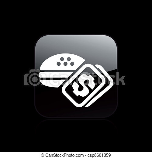 Vector illustration of single isolated food cost icon - csp8601359