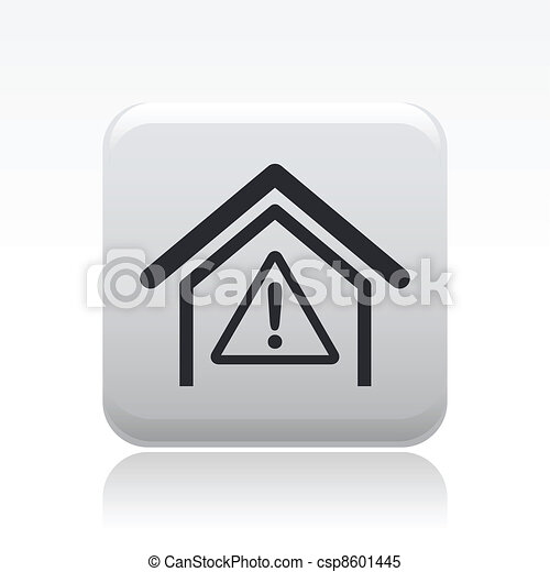 Vector illustration of single danger icon - csp8601445