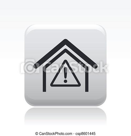 Vector illustration of single danger icon - csp8601445