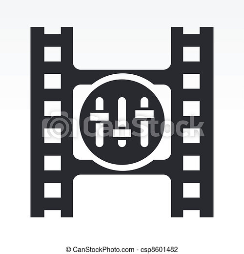 Vector illustration of single isolated mixer icon - csp8601482